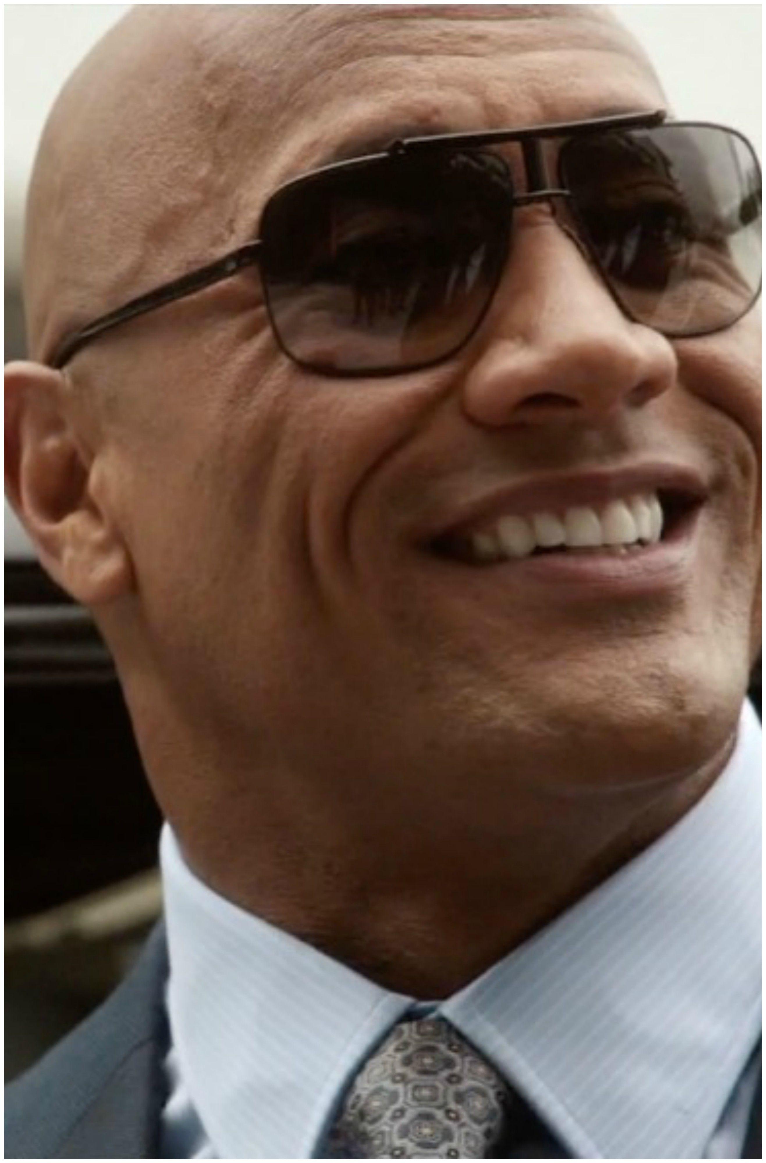 8f245067ad Dwayne Johnson (The Rock) wears Aviator sunglasses.