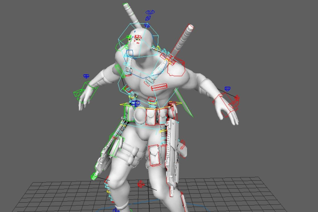 Download Free Rigged 3d Model Art Character Rigging 3d
