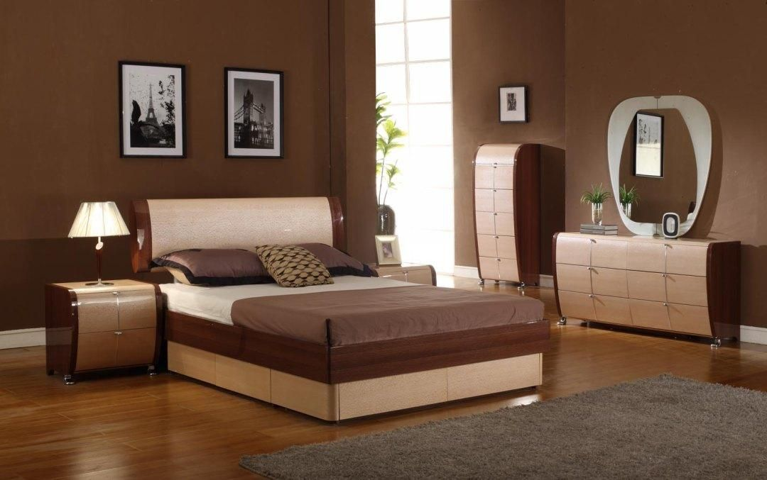 Modrest Maya Modern Lacquer Bedroom Set Queen Bed Sets Furniture