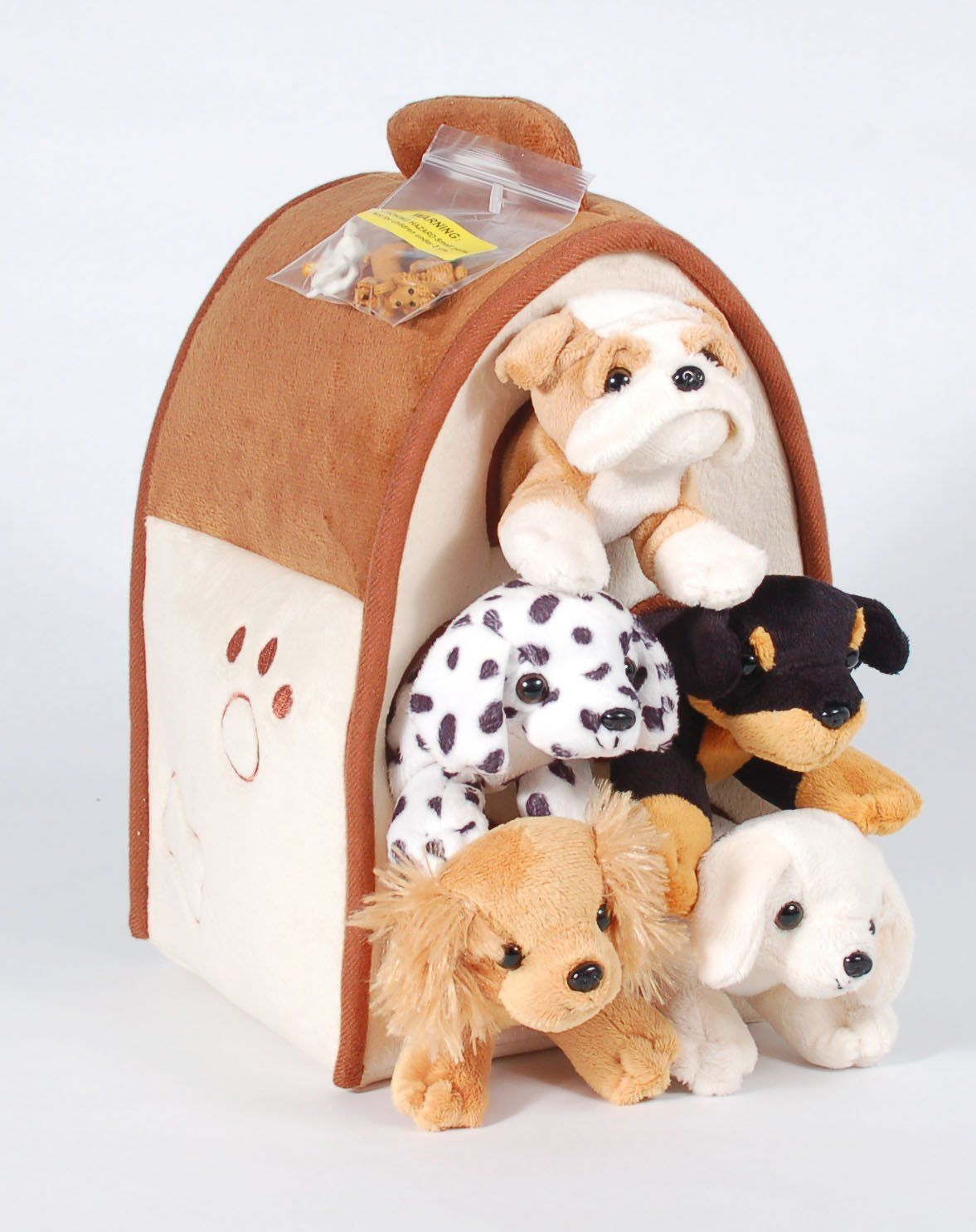 Sfs Gifts Special Edition Unipak 12 Plush Dog House With 5 Stuffed