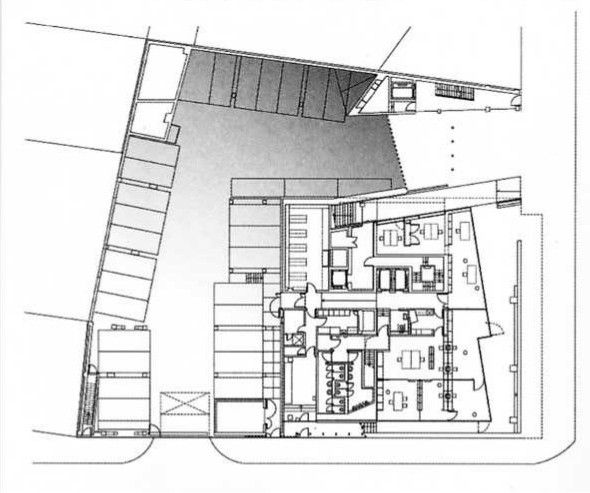 Oma Koolhaas Netherlands Embassy Germany Berlin 2003 Ground Floor Diagram Architecture Architecture Presentation Architecture Drawing