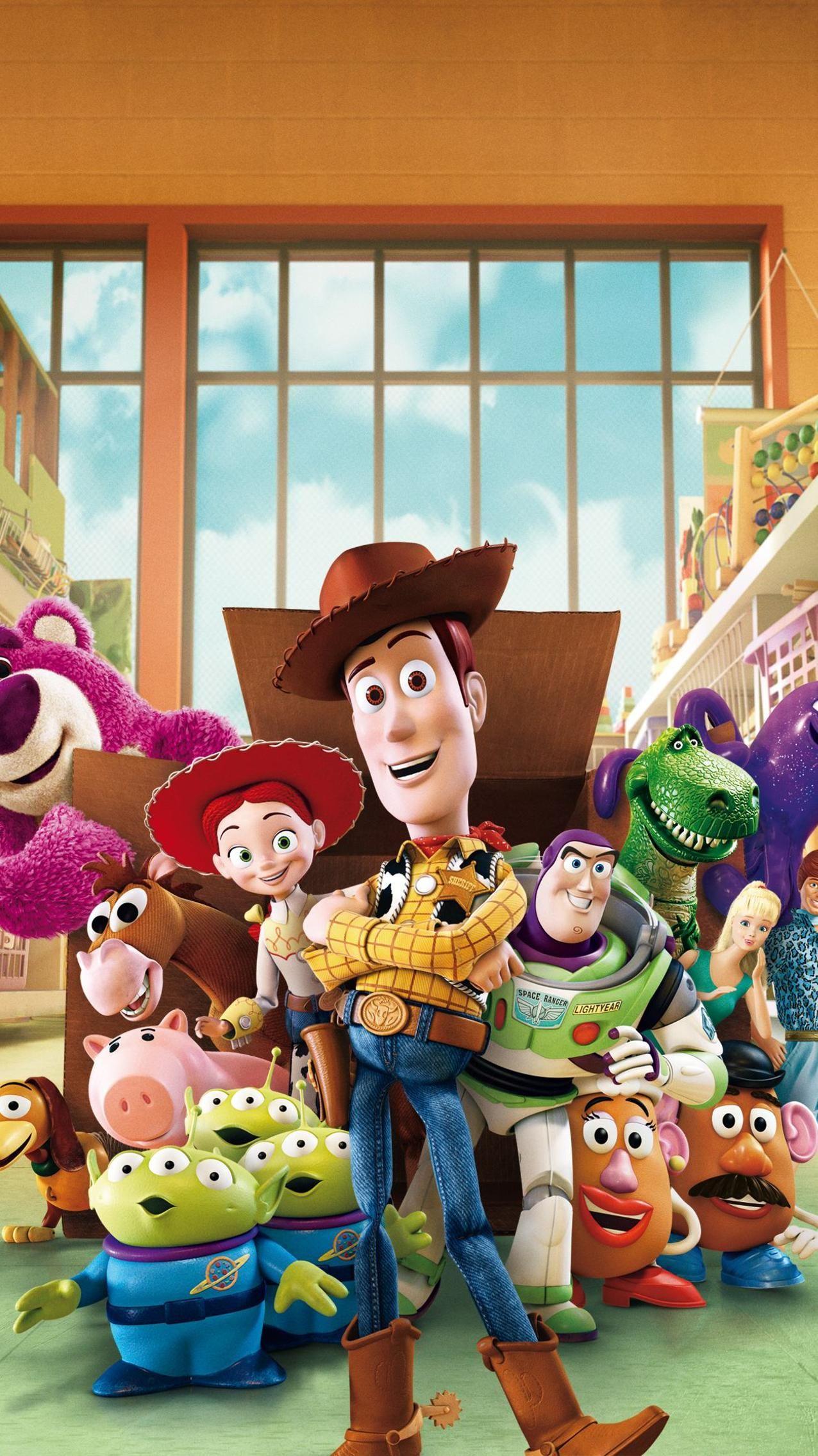 Toy Story 3 (2010) Phone Wallpaper en 2020 Fondos de