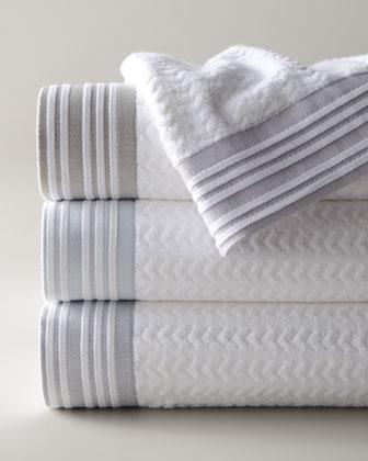 Decor Accessories Provence Bath Towels Neiman Marcus White Chevron Jacquard Bath Towels Pleated B Bath Towels Luxury Linen Closet Decorative Bath Towels