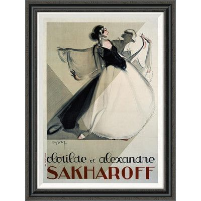 Global Gallery 'Clotilde et Alexandre Sakharoff' by Philippe Petit Framed Vintage Advertisement Size: