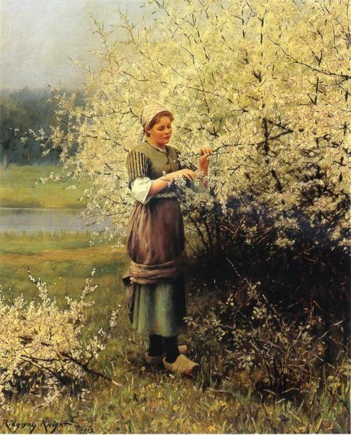 Spring Blossoms, Daniel Ridgway Knight