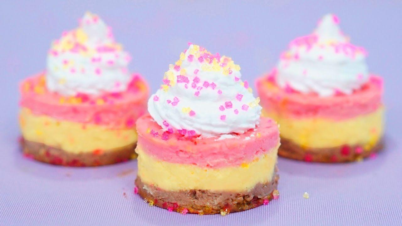 Cheesecake Napolitano Sin Horno Mis Pastelitos Mini Cheesecakes Delicious Desserts Desserts