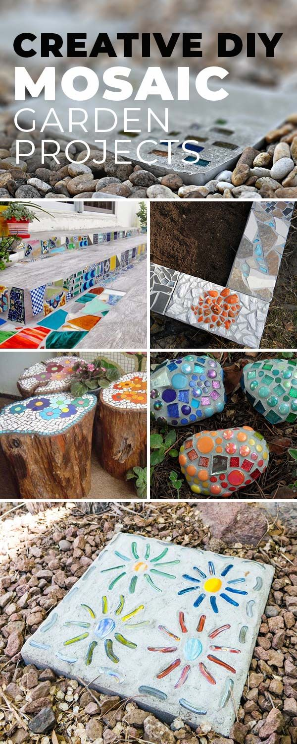 Mosaicos Creative Diy Mosaic Garden Projects Mosaik Pinterest