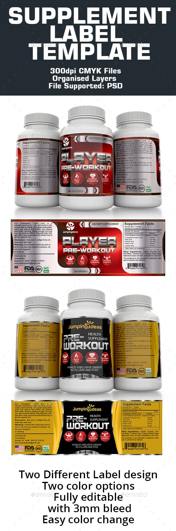 Supplement Label Template  Label Templates Template And Print