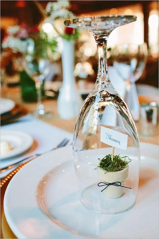 Originelle Tischdeko Idee Tischdeko Gastgeschenk Hochzeit