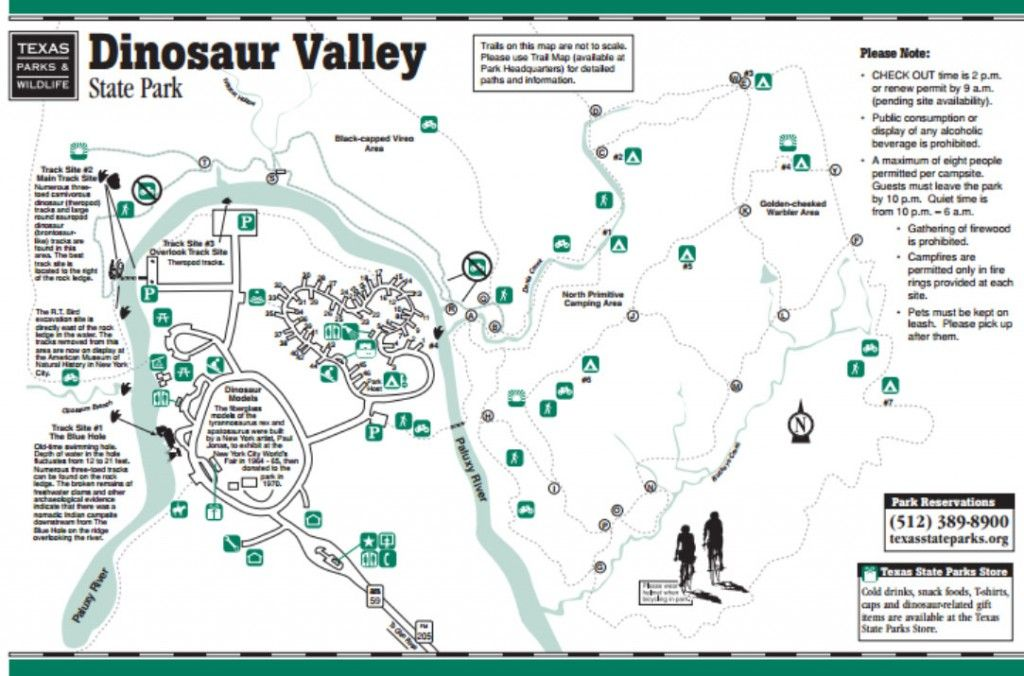 Dinosaur Valley State Park Map Map of Dinosaur Valley State Park in Glen Rose, TX | True Texan