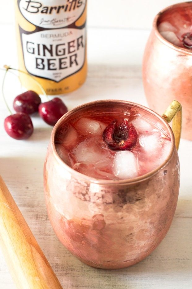 Very Cherry Moscow Mule from @cakenknife