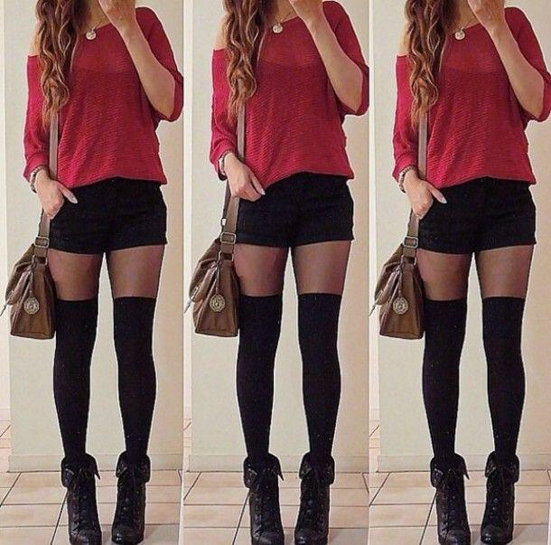 Shorts | Short shorts, Red black and Shorts