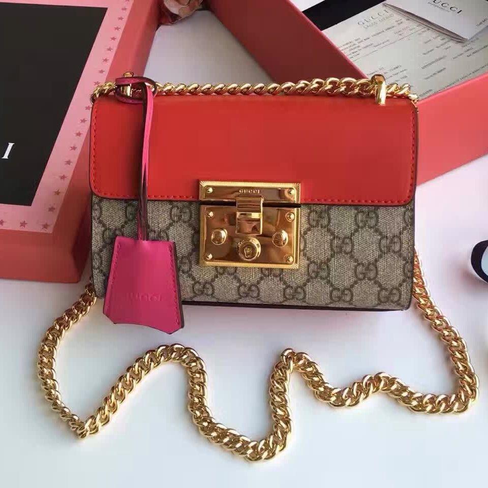 a8c8040585f Gucci Padlock GG Supreme Shoulder Bag