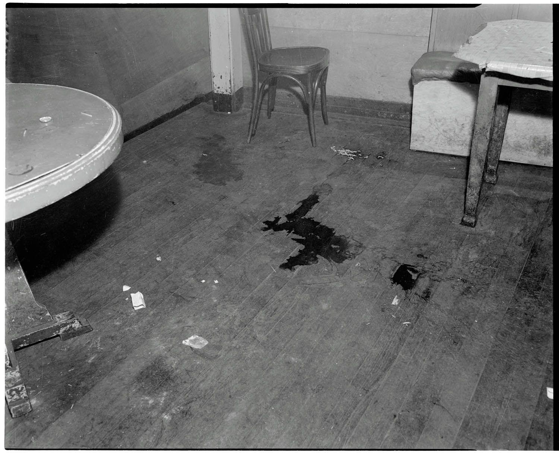 Wooden Floor Showing What Is Presumed To Be A Pool Of Blood. Ziegfeld Club,  What Is Presumed