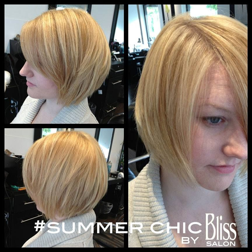 Our receptionist Gretchen treated herself to a fresh new 'do this week! Our master colorist Katy added some gorgeous highlights to her naturally dirty blonde hair and our superstar stylist Juliette edge to her look by giving her an asymmetrical cut.   https://www.facebook.com/BlissWinnetka?ref=hl