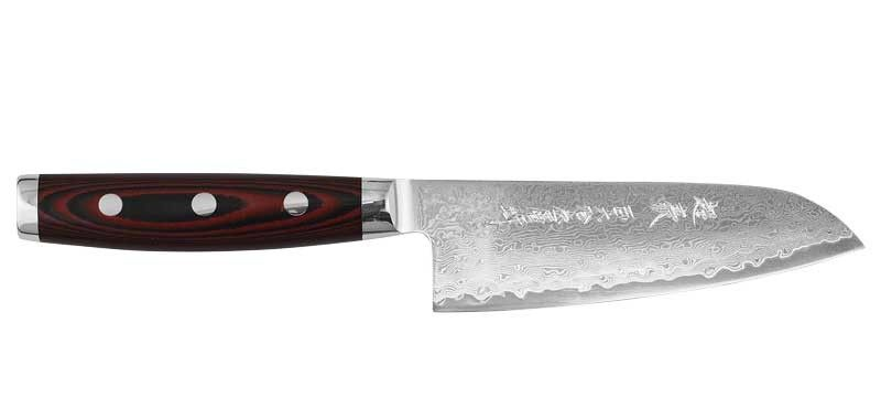 Couteau Santoku Yaxell Super Gou Damas 161 Couches 12 5cm Y37112 Lame Damas Couteau Damas