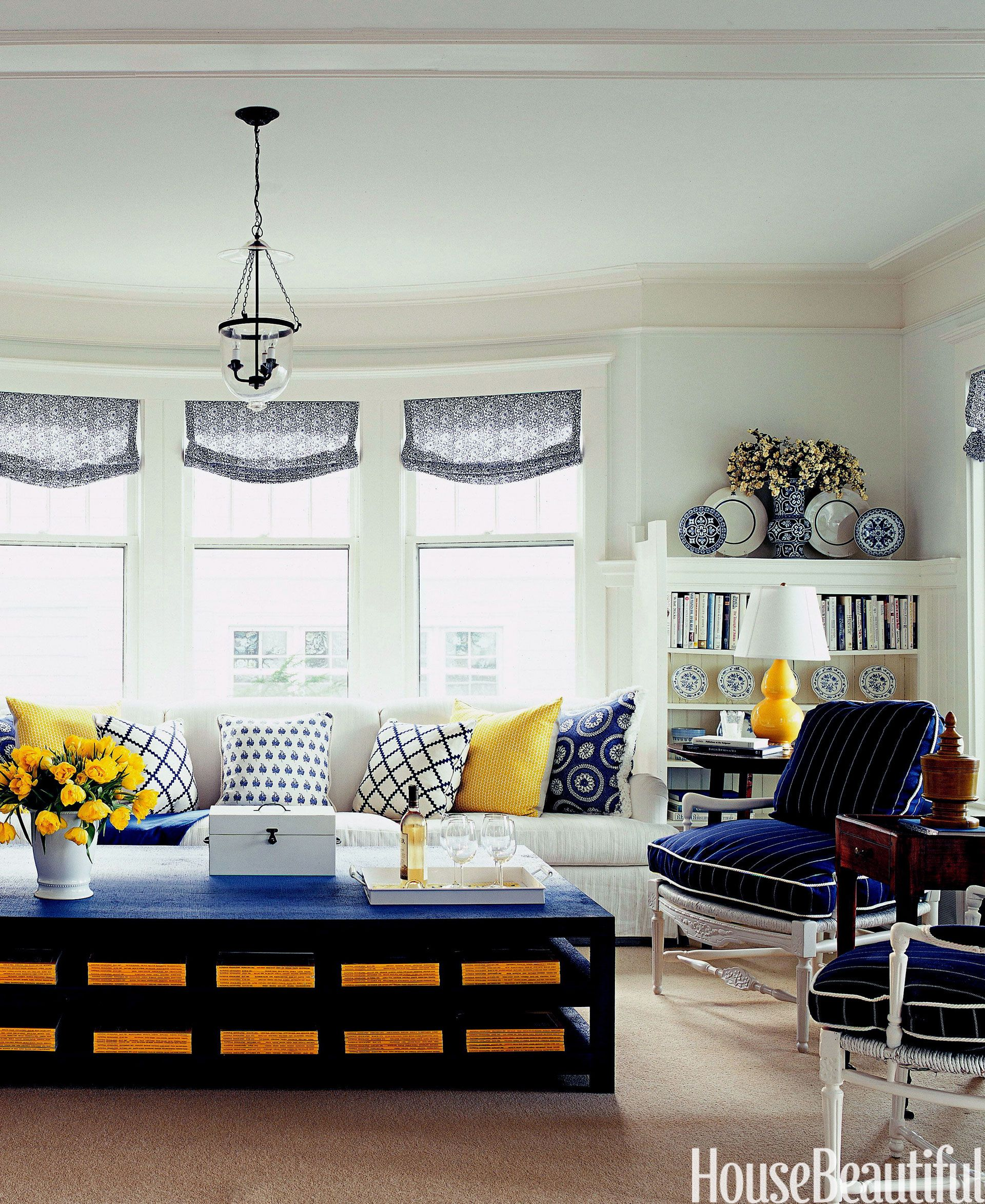 Top Pins Of The Week Blue And Yellow Living Room Yellow Living