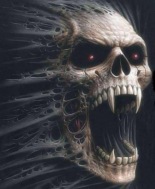 screaming skulls skull