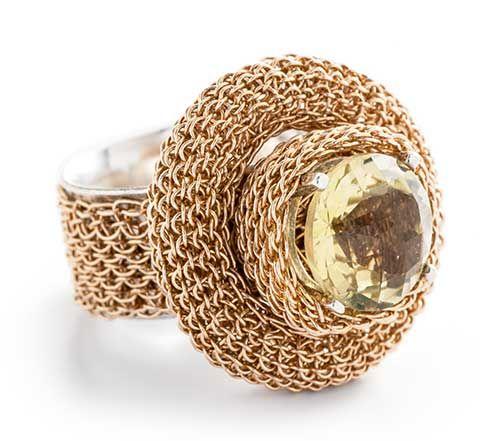 TOVE RYGG, RING, GOLD, SILVER, LEMON QUARTZ. | croche | Pinterest ...