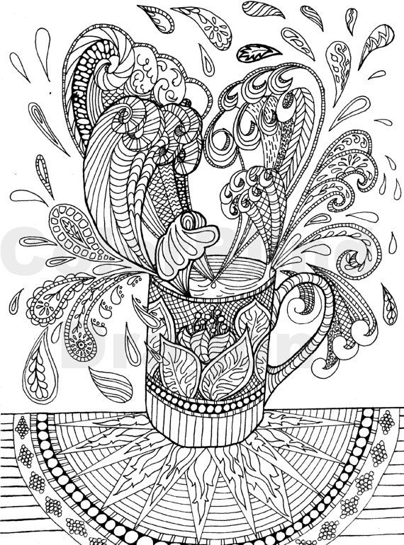 Coffee, coloring pages, colouring pages, wave, water