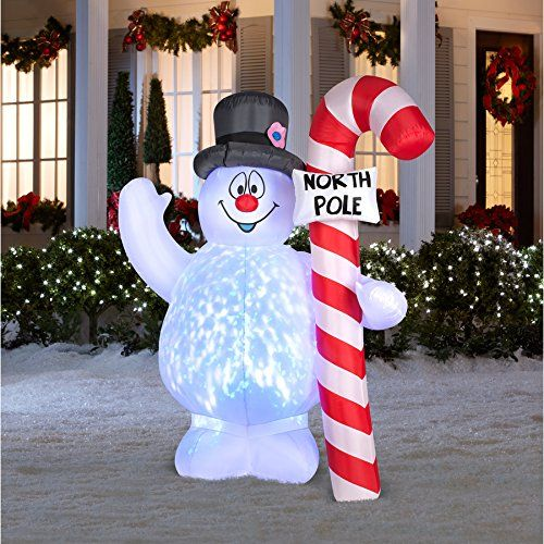 Airn Inflatable Gonflable Inflable Frosty The Snowman Lights Up Light Show 5 Ft Lawn Decorationsoutdoor Christmas Decorationschristmas
