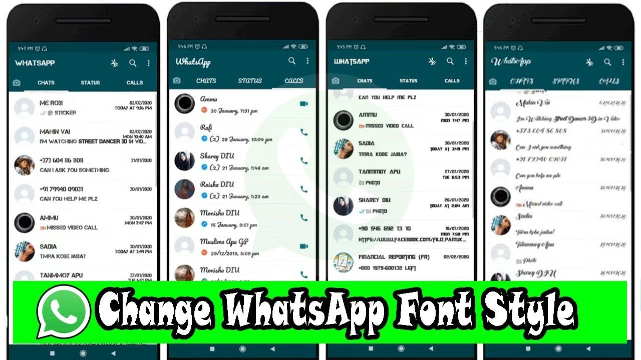 How To Change Whatsapp Font Style In Your Android Mobile 2020 Awesome Trick Photo Video App Stylish Fonts Different Font Styles