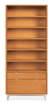 Bookshelf With File Cabinet Bottom