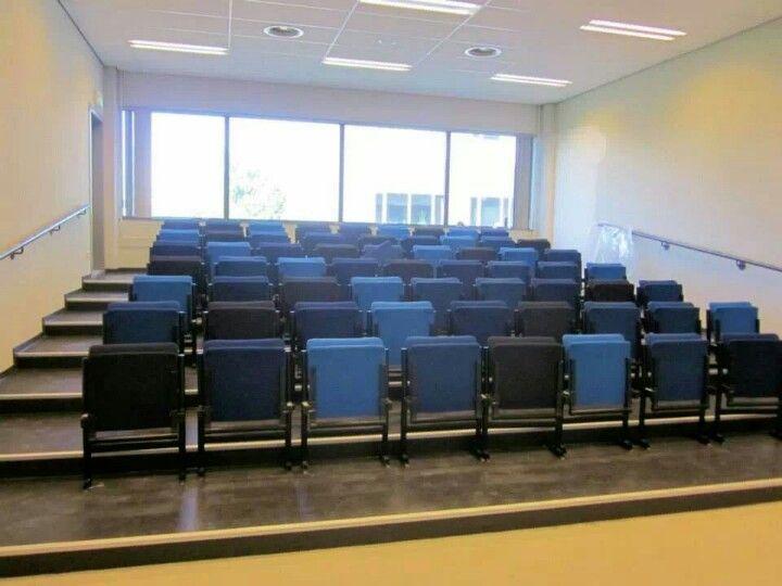Herstoffren collegezaal meubilair Erasmus Universiteit www.visionfurniture.nl
