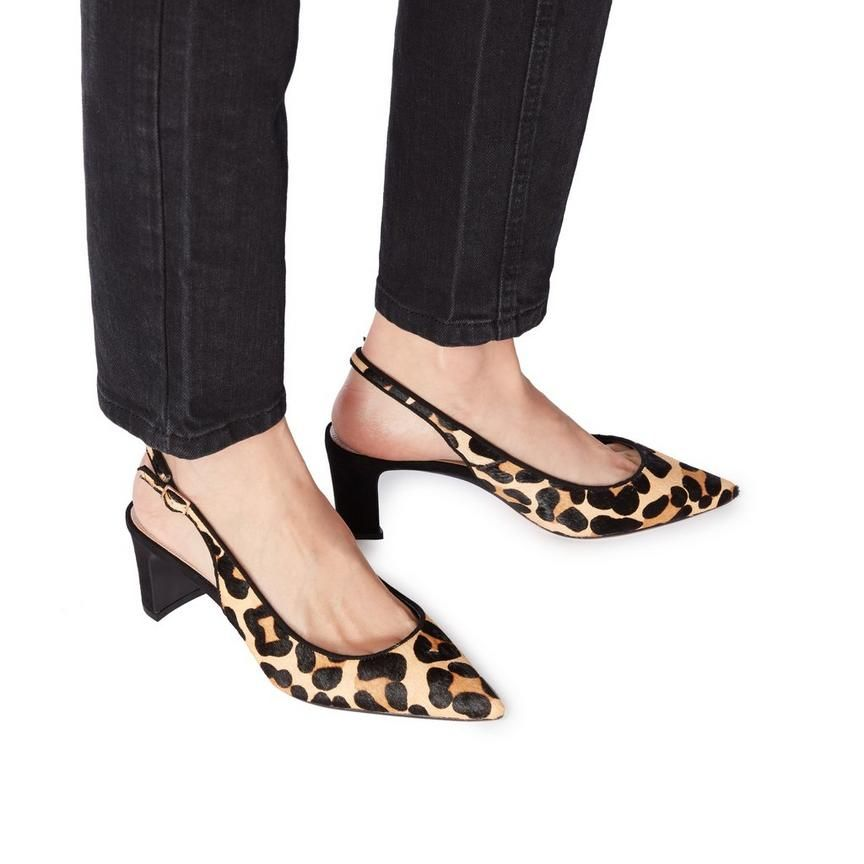 CONDE - Slingback Stacked Heel Shoe