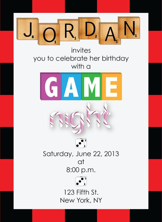 Printable Game Night Party Invitation Game Night Parties Kids Game Night Video Game Party Invitation