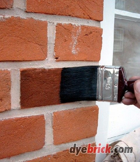 Unique Brick Stain Colors 9 Stain Brick Fireplace Stained Brick Red Brick Exteriors Diy Brick Wall