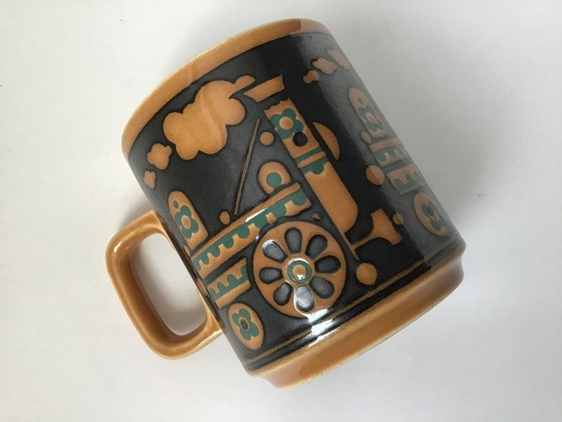 Hornsea Train Robber Mug Coffee Cup John Clappison Etsy Mugs Coffee Cups Cat Coffee Cups