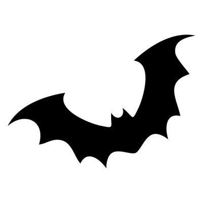 Halloween Bat Silhouette Template