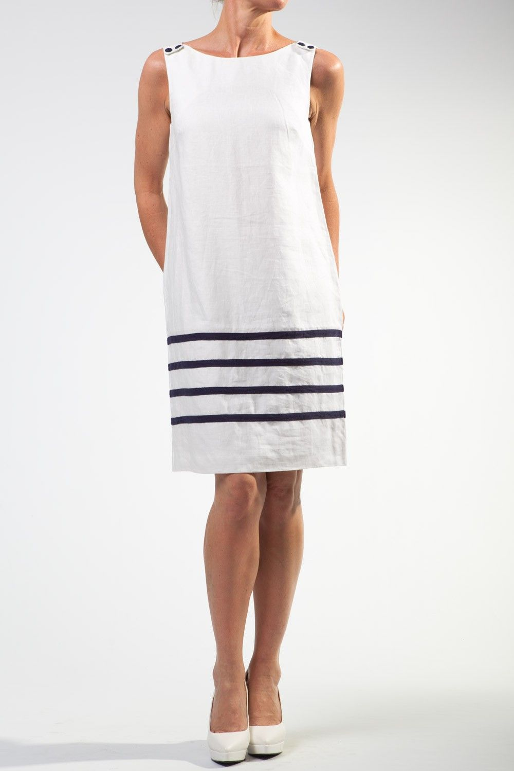 White Linen Dresses Great Plains White Corrine Linen Shift