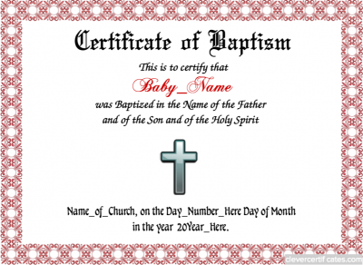 Baptism template free to customize and download to email or print baptism template free to customize and download to email or print clevercertificates certificate templatestemplates free yelopaper Image collections