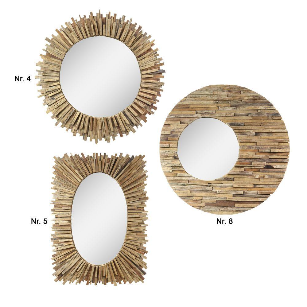 Details zu Großer Spiegel Rahmen aus Holzstücken Massiv Holzrahmen ...