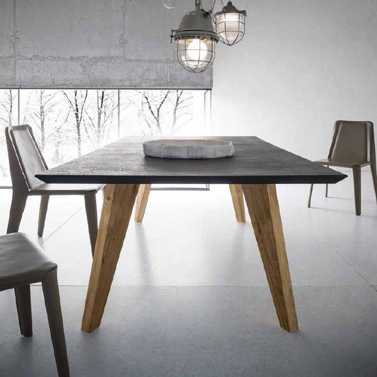 Sedit Raw Wooden Dining Table Contemporary Dining Room Furniture