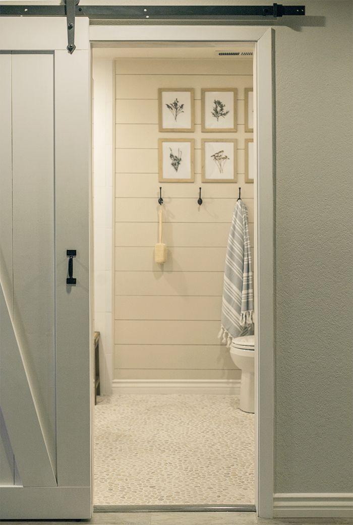 Beautiful Diy Bathroom Renovation With A Pebble Floor