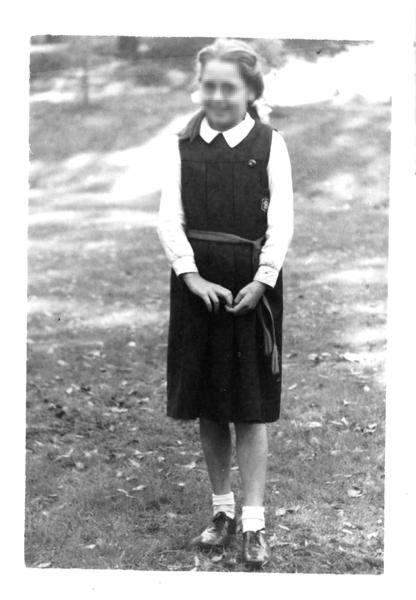 Vintage British School Girl 'vintage british