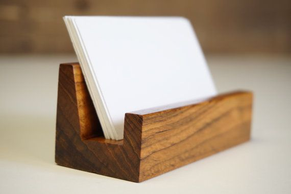 Wood Office Desk Business Card Holder Office Accessories Office Furniture Office Supply Bu Business Card Displays Business Card Stand Business Card Holders Unique business card holders for desk