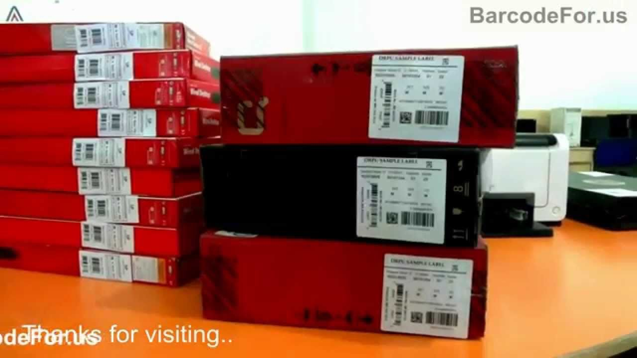 How to generate Barcode Labels for Labeling on Products
