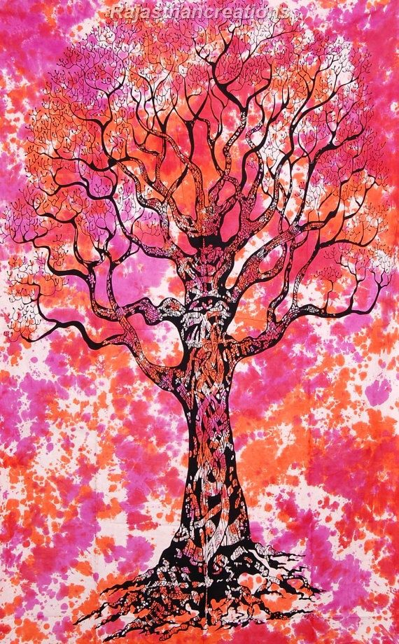 Tree of Life Hippie Tapestries Wall Hanging by Rajasthancreations