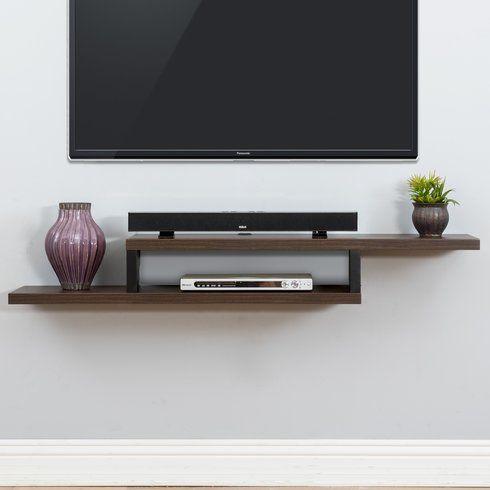 Ascend 60 Asymmetrical Wall Mounted Tv Component Shelf
