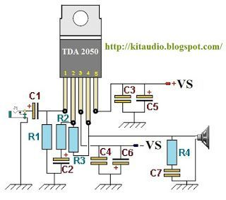 Ic Tda2050 Based 32w Hi Fi Audio Power Amplifier