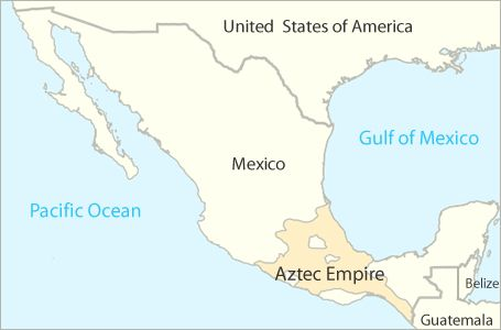Aztec Civilization Map map of the Aztec empire | Aztec for Kids | Aztecs for kids, Aztec