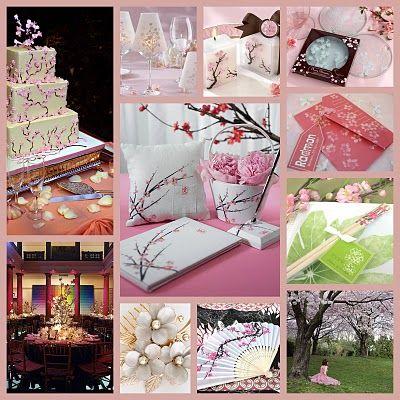 Cherry Blossom Wedding Mood Board