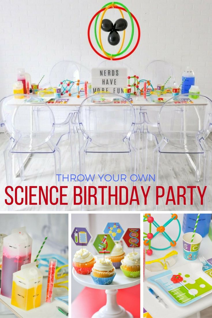 Science Birthday Party | Kids Party Ideas | Pinterest | Birthday ...