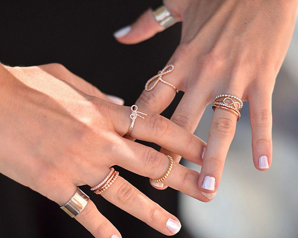 crystal u0026 bar stack rose gold rings by wanderlust crystal u0026 bar stack rose gold rings by wanderlust these stack rings come as a pair with each ring