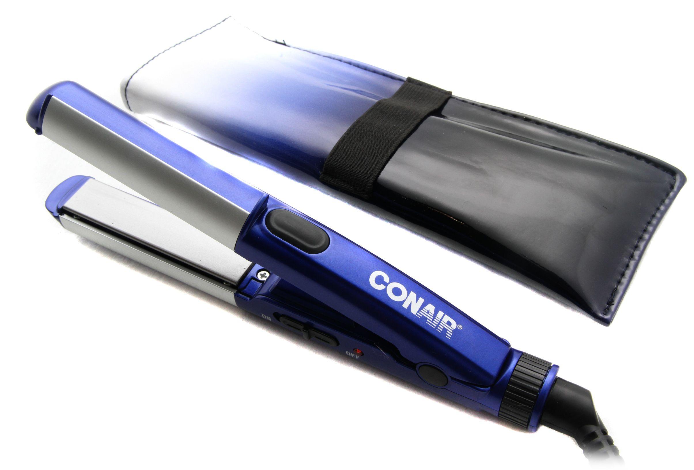 Conair Cs69 Mini Ceramic Hair Styler Flat Iron Curling