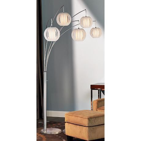 Lite Source Deion 5 Light Hanging Arc Floor Lamp